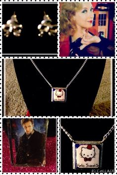 Doctor Who Hello Sweetie Necklace, Bowtie Earrings, & Free Matt Smith Pin!