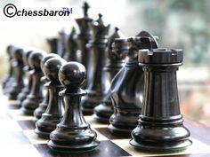 1850 Staunton in Ebony Chess Set