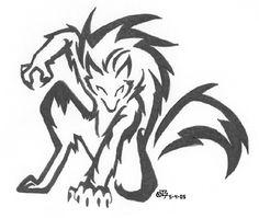 Werewolf+TribalTattoo | werewolf by Iciclefobbit