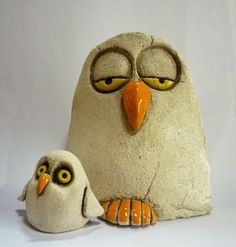 Ceramic Angels, Ceramic Birds, Ceramic Pottery, Pottery Art, Ceramic Flowers, Clay Owl, Clay Birds, Pottery Handbuilding, Pottery Animals