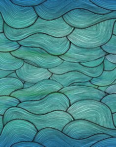 Inspiration for Free Motion Quilting - Pattern Illustrations - Pom Graphic Design #seawaves #waves #seapattern