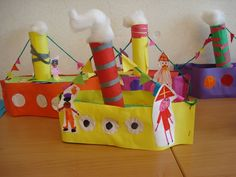 At kindergarten you crafted the steamboat and after a night visit … – Knippen Fun Crafts, Arts And Crafts, Paper Crafts, Diy For Kids, Crafts For Kids, Transportation Activities, Holiday Club, Art Lessons For Kids, Saint Nicholas