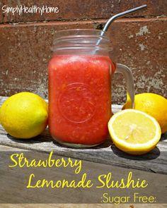 Sugar Free Strawberry Lemonade Slushie - Simply Healthy Home