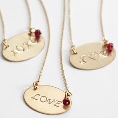 Top Quality Unique Personalized Gifts at Red Envelope via http://www.AmericasMall.com/redenvelope-gifts ruby love necklace #redenvelope #gifts #personalizedgifts