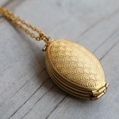 Árbol genealógico medallón... Cuatro fotos niños Bronce oro medallón con Deco Vieira diseño