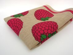 Retro 1970s Fruity Raspberries Linen Tea by RaggleTaggleHawker, £19.99