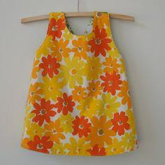 Ecofriendly baby dress handmade upcycled by bananaorangeapple, $25.00