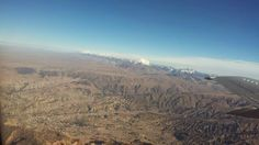 La Paz on the bottom, Andes on the top