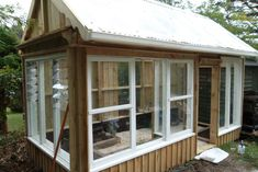DIY tutorial Greenhouse made from recycled windows/ Instructables