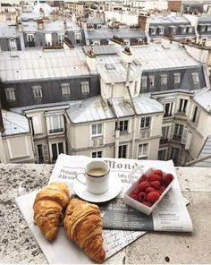 Croissants and coffee for breakfast on the balcony in Paris, France. Places to visit and see on your vacation trip to Paris. Paris bucket list things to do. Travel Aesthetic, Aesthetic Photo, The Places Youll Go, Places To Go, Paris By Night, Paris 3, Paris Summer, Paris City, Paris Ville