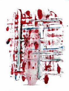 "Saatchi Art Artist leslie weissman; Printmaking, ""Boundries Melted In Red"" #art"