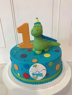 Dinosaur Birthday Cake in Bright Colors by 3 Sweet Girls Cakery! Dinosaur Birthday Cake in Bright Colors by 3 Sweet Girls Cakery! Dinosaur First Birthday, Boys 1st Birthday Cake, Birthday Ideas, Children's Birthday Cakes, Bright Birthday Cakes, Dinosaur Party, Dinosaur Cakes For Boys, Dinosaur Cake Pops, Dino Cake