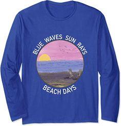 Amazon.co.jp: Blue Wave Sun Rays Beach Days Life Is Really Good Summer 長袖Tシャツ Blue Beach, Beach Day, Christmas Store, Christmas Shopping, Sun Rays, Waves, Gift Ideas, Amazon, Long Sleeve
