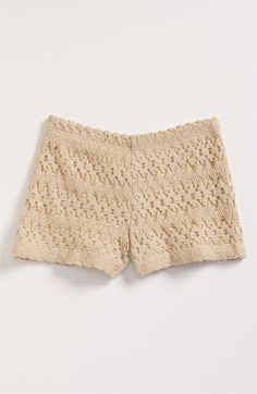 crocheted shorts... adorable