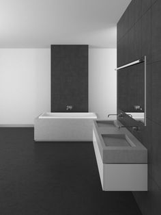 Double Sloped Sinks With Wall Mounted Fixtures