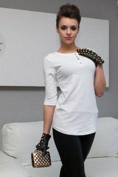 Bluzka 1721_bialy | Odzież damska \ bluzki Odzież damska \ bluzki | Tytuł sklepu zmienisz w dziale MODERACJA \ SEO