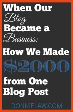 When Our Blog Became a Business: How We Made $2,000 From One Blog Post Pinterest@Sagine_1992 Sagine☀️