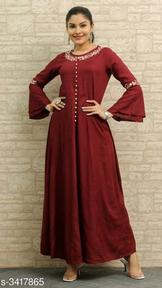 Kurtis & Kurtas Women's Embroidered Rayon Kurti  *Fabric* Kurti - Rayon, Palazzo - Rayon  *Sleeves* Sleeves Are Included  *Size* Kurti - 38 in, 40 in, 42 in, 44 in, 46 in,  *Length* Kurti - Up To 50 in  *Description* It Has 1 Piece Of Kurti  *Work* Kurti- Button Work  *Sizes Available* S, M, L, XL, XXL *    Catalog Name: Women's Embroidered Rayon Kurtis CatalogID_460755 C74-SC1001 Code: 955-3417865-