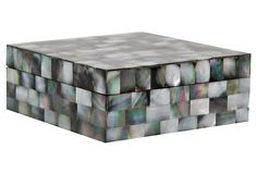 Black Mother of Pearl Box, Small | Luxe Accents | One Kings Lane