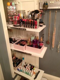 16. Sliding Panel | 17 Makeup Storage Ideas You'll Surely Love | Creative and Cheap Makeup Organizer! by Makeup Tutorials at http://makeuptutorials.com/makeup-storage-ideas/