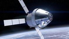 On Thursday, NASA showed off a new look for its Orion crew capsule — the spacecraft that could eventually take humans into deep space and on to Mars someday. Future versions of Orion will now sport. Apollo 11, Mars Spacecraft, Space Launch System, Nasa Rocket, Back To The Moon, Walt Disney, Apollo Program, Moon Missions, Mickey Mouse
