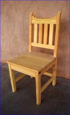New Mexico Dining Chair, Unfinished