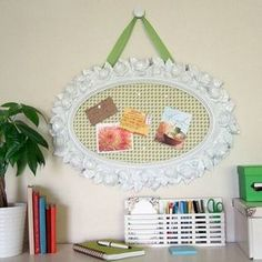 crafts for bedroom decorations | This crafty bulletin board adds style to a teen's room while providing ...