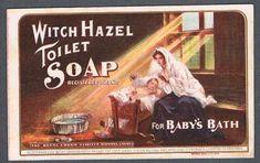 Original 1930's Witch Hazel Toilet Soap Advertising Blotter
