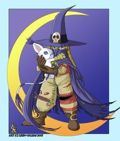 -crescent moon- by ~Leen-galeas (Digimon) Gatomon and wizardmon