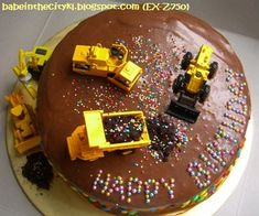 Jackson would LOVE this, but I'm afraid it would not end well for the cake! :)