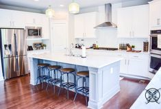 Want to Upgrade Your Kitchen Island? This is a super quick, inexpensive, easy weekend project, that provides a lot of character to an otherwise basic kitchen island by adding picture frame molding. Kitchen Island Molding, Painted Kitchen Island, Painting Kitchen Countertops, Kitchen Peninsula, Diy Kitchen Cabinets, Basic Kitchen, Kitchen Sets, Wainscoting Panels, U Shaped Kitchen