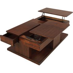 Le Mans Mozambique Double Lift-top Coffee Table - Overstock Shopping - Great Deals on Progressive Coffee, Sofa & End Tables