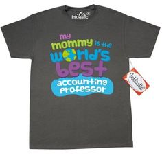 Inktastic My Mommy Is The Worlds Best Accounting Professor T-Shirt Child's Kids Baby Gift Professor's Daughter Childs Like Cute Occupation Apparel Mens Adult Clothing Tees T-shirts Hws, Size: XXL, Black