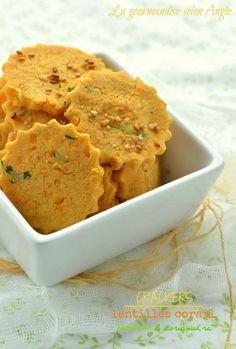 lentilles corail crackers végétal coriandre