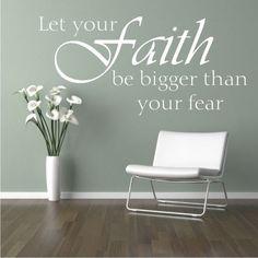 Faith quote vinyl lettering