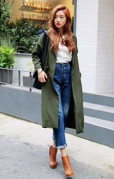 [STYLENANDA] NATURAL CHIC TWO-POCKET COAT