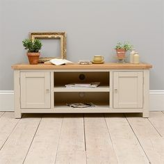 """Hampstead Stone Grey Large TV Unit - Up to 57"""" including free delivery…"""