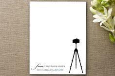 Tripod Business Stationery Cards by Hooray Creative at minted.com