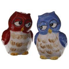 Owl Couple Salt and Pepper Set