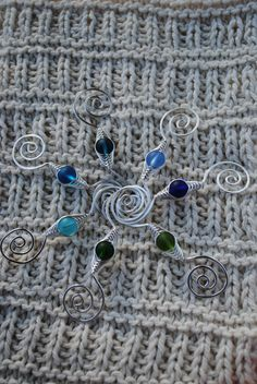 Handcrafted Customized Shawl Pin in cobalt, light sapphire, teal, pacific blue, turquoise, forest green or moss green by MichellesAssortment #knitting #crochet #shawl #shawls #shawlpin #etsy #handmade