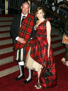 Fashion Designer Alexander McQueen (R.I.P) with Sarah Jessica Parker, 2005