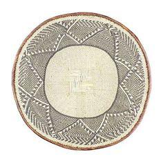 African Handmade Basket on Chairish.com