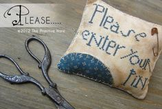 """Freebie: """"Please enter your pin!"""" How to make this pin cushion."""