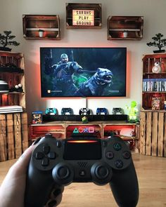 Truly Awesome Video Game Room Decoration Ideas & House & Living Source by Nerd Room, Gamer Room, Sala Nerd, Small Game Rooms, Gaming Room Setup, Gaming Rooms, Play Corner, Game Room Furniture, Video Game Rooms