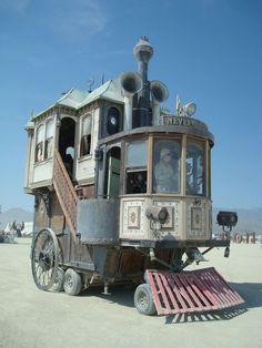 Locomotive/Steam Engine Art Car at Burning Man