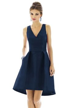 Shop Alfred Sung Bridesmaid Dress - D588 in Peau De Soie at Weddington Way. Find the perfect made-to-order bridesmaid dresses for your bridal party in your favorite color, style and fabric at Weddington Way.