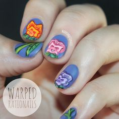 Warped Rationails: Alice in Wonderland pansies