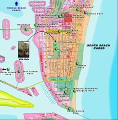 Miami Map South Beach Florida