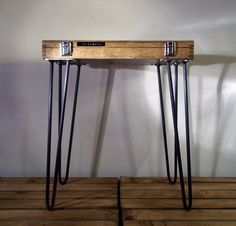This little table beams character & charm in equal measures. t his is a truly unique item. Consisting of a wooden engineers tool case & hand made steel legs. practical piece of furniture. Has also undergone a thorough clean. | eBay!