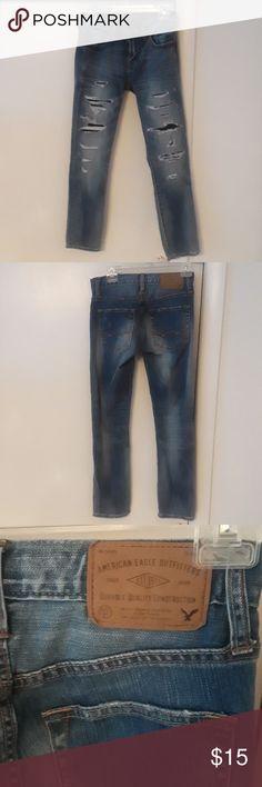 American Eagle Skinny 26x28 Jeans Like New Condition American Eagle Core Flex Skinny Wripped Jeans American Eagle Outfitters Jeans Skinny